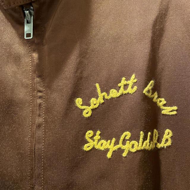 schott(ショット)のSCHOTT ショット レーヨン スイングトップ ブラウン Lサイズ メンズのジャケット/アウター(ブルゾン)の商品写真