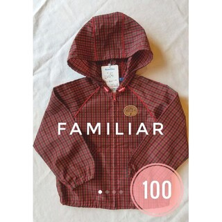 familiar - ファミリア ナイロンジャケット ウィンドブレーカー チェック 100