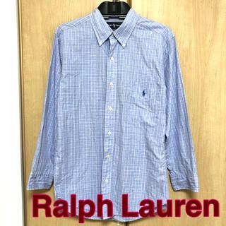 Ralph Lauren - 【Ralph Lauren】シャツ 水色 チェック メンズ