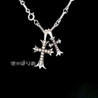 ダブルクロスネックレス 十字架 夏 シルバー 2way