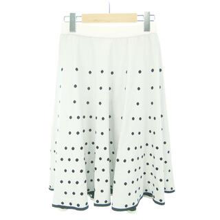 トゥービーシック(TO BE CHIC)のTO CHIC ドットジャカードニットスカート(ひざ丈スカート)