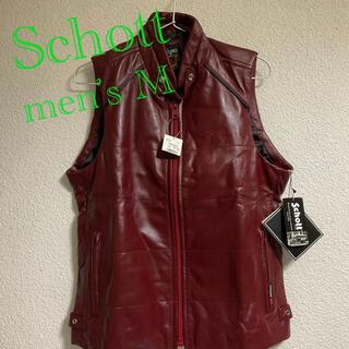 schott -   Schott  ショット ラム ベスト メンズMサイズ ボルドー色 新品難有
