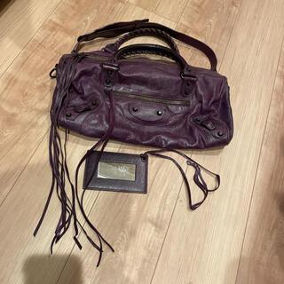 バレンシアガ(Balenciaga)の正規店購入 バレンシアガ ツィギー 紫(ハンドバッグ)