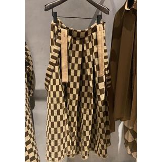 マルタンマルジェラ(Maison Martin Margiela)のuma wang ロングスカート チェック ウール(ロングスカート)