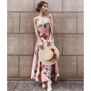 eimy istoire - Sophia flower ストラップベルトワンピ♡