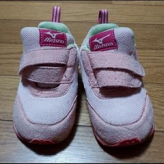 ミズノ(MIZUNO)のミズノ ピンクがかわいいキッズシューズ14センチ(スニーカー)