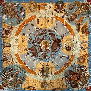 Hermes - HERMES エルメス カレ 90 スカーフ 褐色の男達の伝説