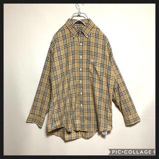 BURBERRY - Burberry バーバリー チェックシャツ USA ビンテージ メンズ 大きめ