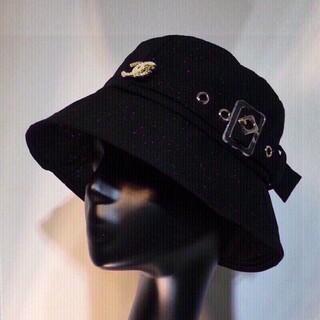 CHANELにんき人気しんさく新作クリスタルリップデザインのナイロンぼーし帽子