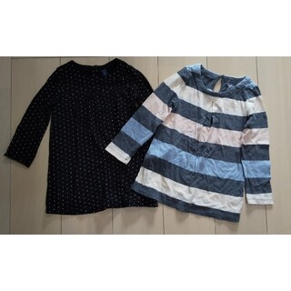 ベビーギャップ(babyGAP)の女児 babyGap チュニック95cm、長袖トップス 100cm(Tシャツ/カットソー)