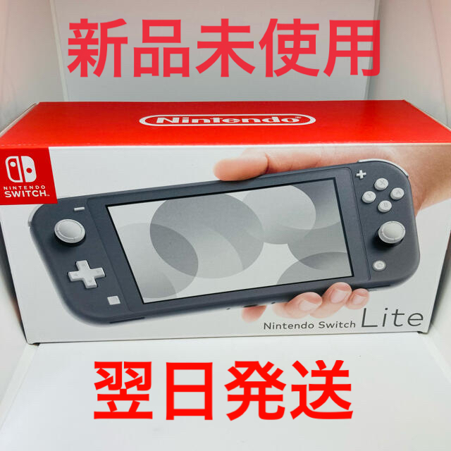 Nintendo Switch(ニンテンドースイッチ)の未使用 Nintendo Switch Lite スイッチライト グレー エンタメ/ホビーのゲームソフト/ゲーム機本体(家庭用ゲーム機本体)の商品写真