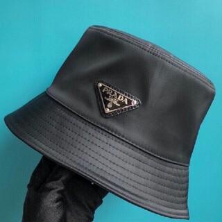 PRADA - 【サイズ:M】新品   プラダ ナイロン ハット 帽子 黒#2606