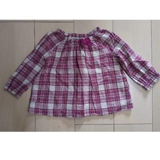 ベビーギャップ(babyGAP)のbabyGap 女児 トップス 長袖 90cm ワインレッド(Tシャツ/カットソー)