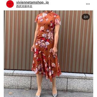 VIVIENNE TAM - タグ付き新品 ヴィヴィアンタム 2020AW ピオニープリントネットワンピース