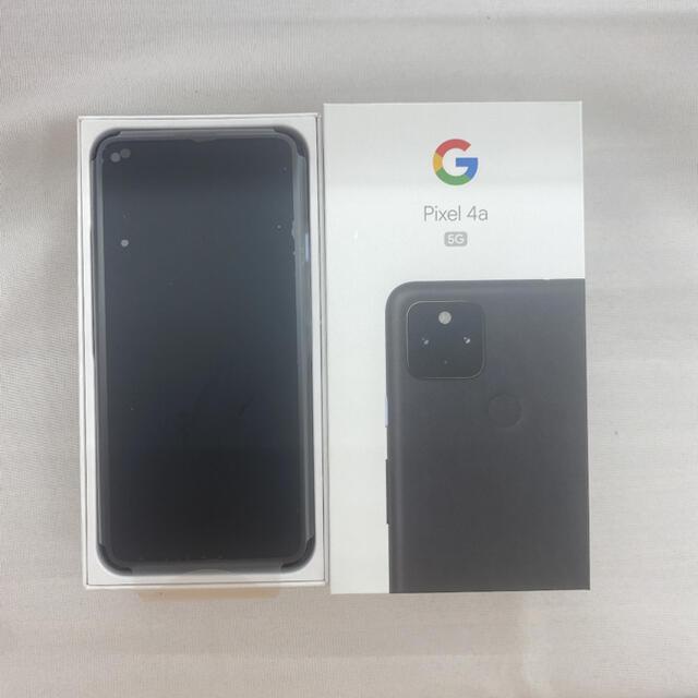 Google Pixel(グーグルピクセル)のGoogle Pixel 4a(5g)JustBlack 128 GB スマホ/家電/カメラのスマートフォン/携帯電話(スマートフォン本体)の商品写真