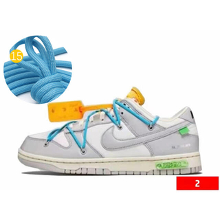 OFF-WHITE × NIKE DUNK LOW The50 適用紐 15