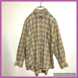 BURBERRY - Burberry バーバリー チェック シャツ メンズ 大きめ 90s