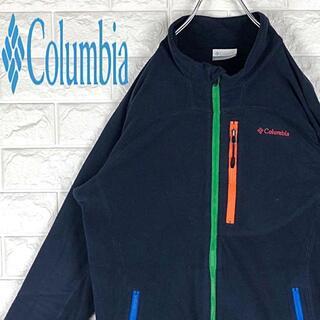 コロンビア(Columbia)のコロンビア マルチカラー 刺繍ワンポイント胸ロゴ フリース ジャケット ブルゾン(ブルゾン)