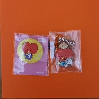 ボウダンショウネンダン(防弾少年団(BTS))のBTS TATA ラバーマスコットキャラクター 缶バッチ(K-POP/アジア)