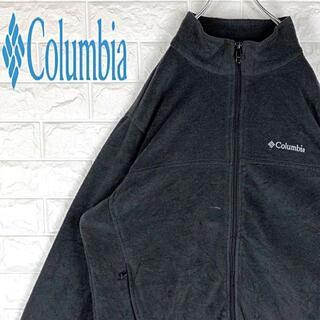 コロンビア(Columbia)のコロンビア ゆったり XL相当 刺繍ワンポイントロゴ フリースジャケットブルゾン(ブルゾン)