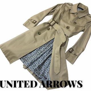 ユナイテッドアローズ(UNITED ARROWS)のUNITED ARROWS トレンチコート/36/コットン/BEG(トレンチコート)