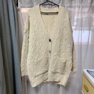 トゥデイフル(TODAYFUL)のアリエスミラージュ購入 ケーブル編みカーディガン(カーディガン)