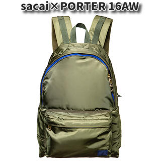 sacai - sacai×POPTER 16AW デイパック リュック バッグ カーキ