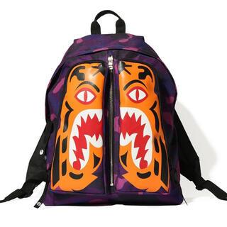 アベイシングエイプ(A BATHING APE)のBAPE  COLOR CAMO TIGER DAY PACK 紫(バッグパック/リュック)