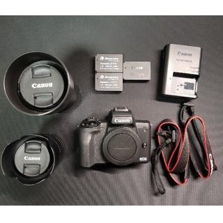 Canon - キヤノン EOS Kiss M ダブルズームキット ブラック