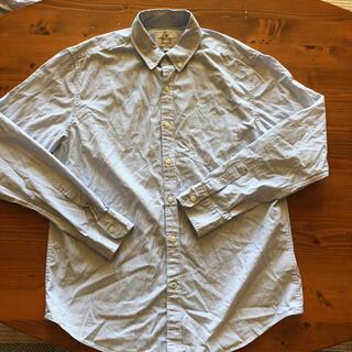American Eagle - ほぼ新品!アメリカンイーグル 綺麗なストライプブルーシャツ サイズL