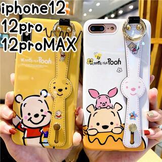 アイフォーン(iPhone)の♥iPhone12 12pro ケース ハンドベルト付 大人可愛い オシャレ(iPhoneケース)