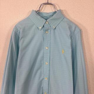 Ralph Lauren - 【美品】ラルフローレン 長袖BDシャツ ポニー刺繍 ギンガムチェック柄 水色 青