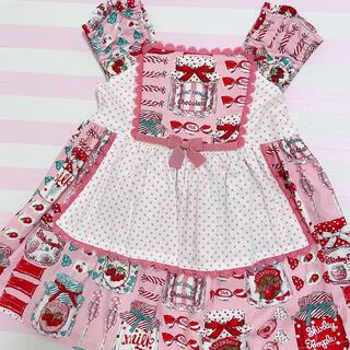 Shirley Temple - シャーリーテンプル キャンディポット 90cm ピンク ワンピース エプロン付き