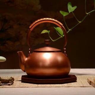 鋳銅 急須 古風銅瓶 やかん 提梁壺 茶壺 煮茶壷 茶道具 銅びん