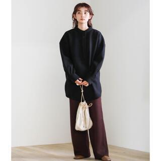 ローリーズファーム(LOWRYS FARM)のselect MOCA スリーピングオーバーシャツ ブラック 黒(シャツ/ブラウス(長袖/七分))