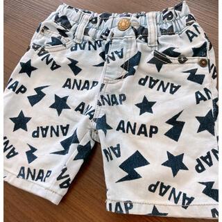 アナップキッズ(ANAP Kids)のANAP Kids アナップキッズ 総柄 デニム ハーフパンツ(パンツ/スパッツ)