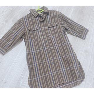 プティマイン(petit main)のシャツワンピース プティマイン(ワンピース)