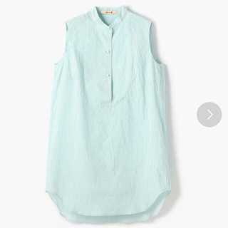 TOMORROWLAND - BACCA コットンワッシャーストライプ ノースリーブシャツ ¥18,700