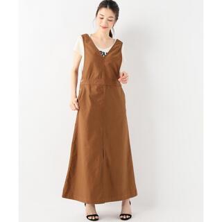 イエナスローブ(IENA SLOBE)のスローブイエナ バックサテンジャンパースカート サロペット ワンピース(ロングワンピース/マキシワンピース)