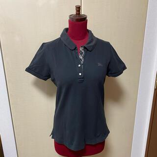 バーバリーブルーレーベル(BURBERRY BLUE LABEL)のバーバリーブルーレーベル 半袖ポロシャツ 黒(ポロシャツ)