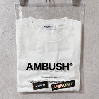 AMBUSH - AMBUSH LOGO EMBROIDERY T-SHIRT ステッカー付き