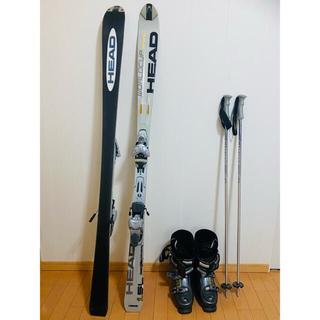 HEAD - スキー板 ブーツ ストックセット バッグ付き