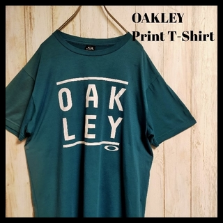 Oakley - 【デカロゴ】OAKLEY オークリー プリントTシャツ 半袖 グリーン