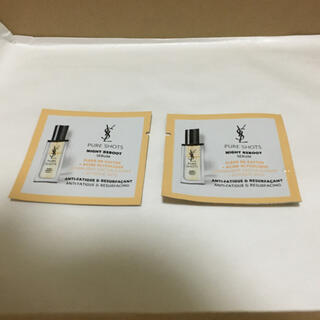 イヴサンローランボーテ(Yves Saint Laurent Beaute)のイヴ・サンローラン ピュアショット ナイトセラム試供品2個(美容液)