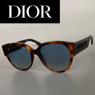 Christian Dior - サングラス ディオール 鼈甲 ブラック ハバナ ブラウン 黒 極太