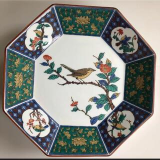 クタニセイヨウ(九谷青窯)の九谷焼 青郊 八角大皿 花鳥図(食器)