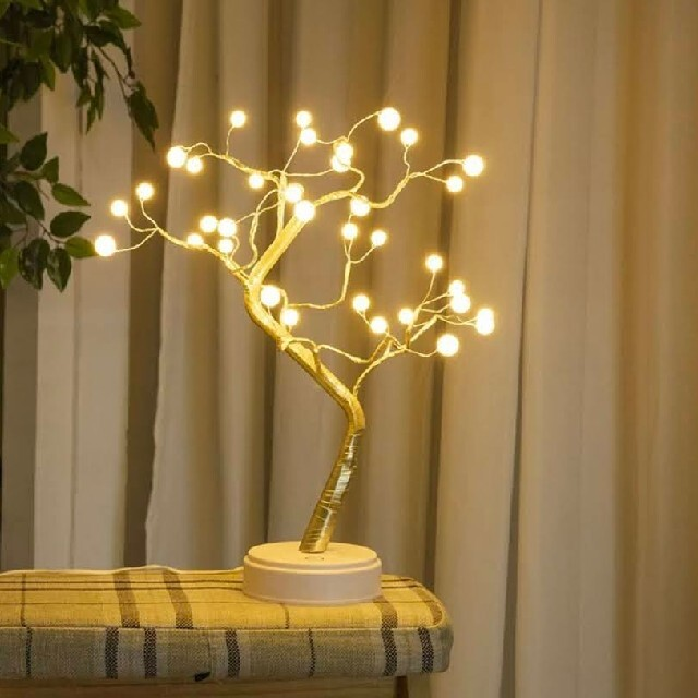 LED カスミソウ ライト ランプ 真珠 クリスマスツリー  電飾 電気スタンド インテリア/住まい/日用品のライト/照明/LED(その他)の商品写真