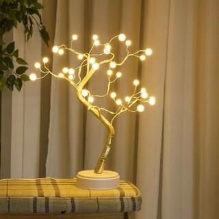LED カスミソウ ライト ランプ 真珠 クリスマスツリー  電飾 電気スタンド