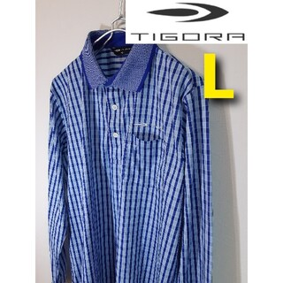 ティゴラ(TIGORA)の【TIGORA】長袖ゴルフウェア/チェック柄/メンズ/ティゴラ(ウエア)