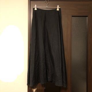 MUJI (無印良品) - 無印良品 muji 麻 リネン スカート 黒